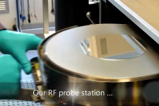 On wafer characterization RF probe station wafer virtual lab