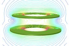 Wireless power transfer model data with Opera simulation software