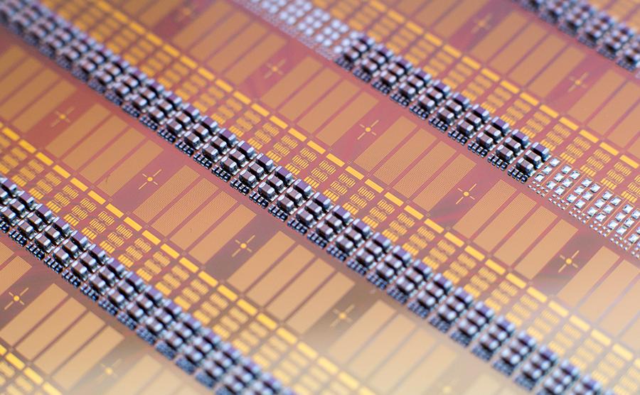 Electronics assembly on CMUT wafer