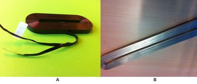 Copper (a) and aluminum (b) foil coils