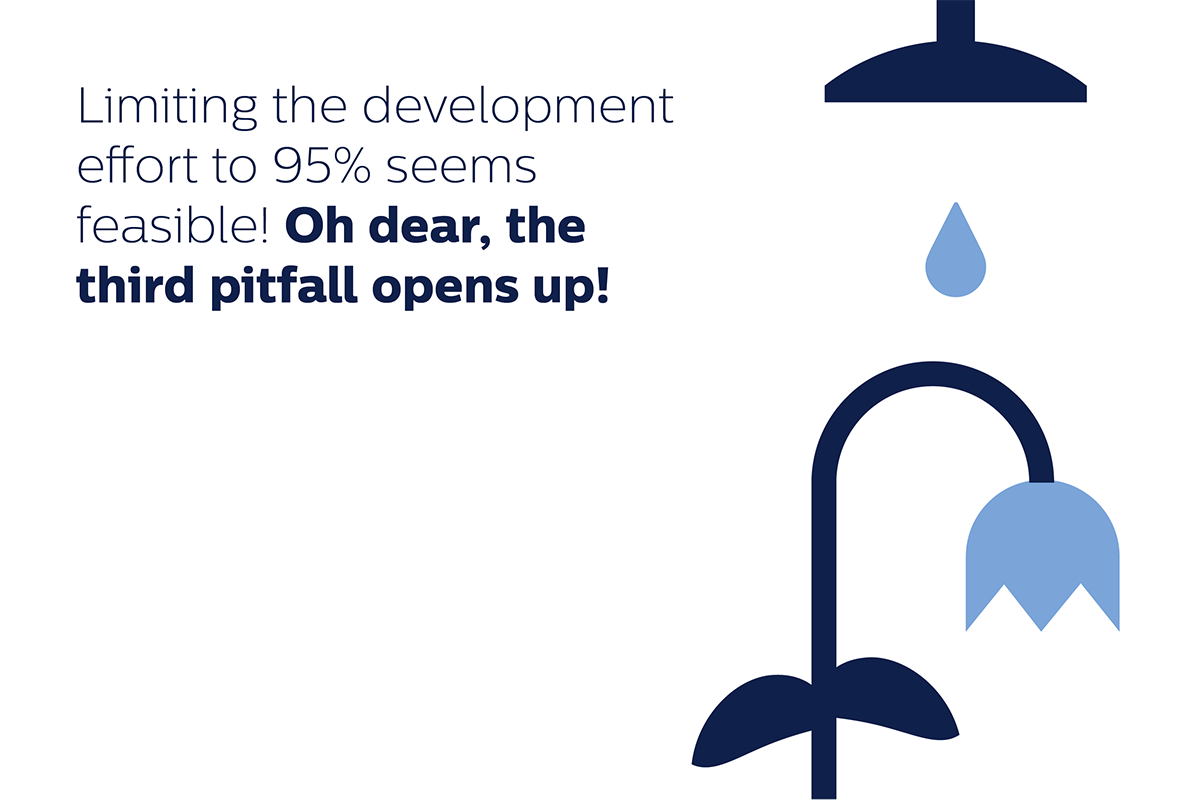 pitfall 3: limiting the development effort to 95% seems feasible