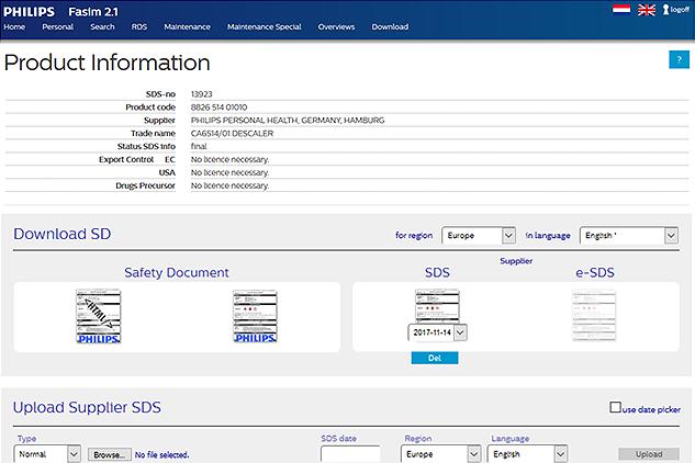 SDS management software Fasim2.1