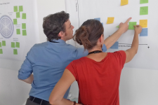 Product engineers during an ecodesign thinking workshop