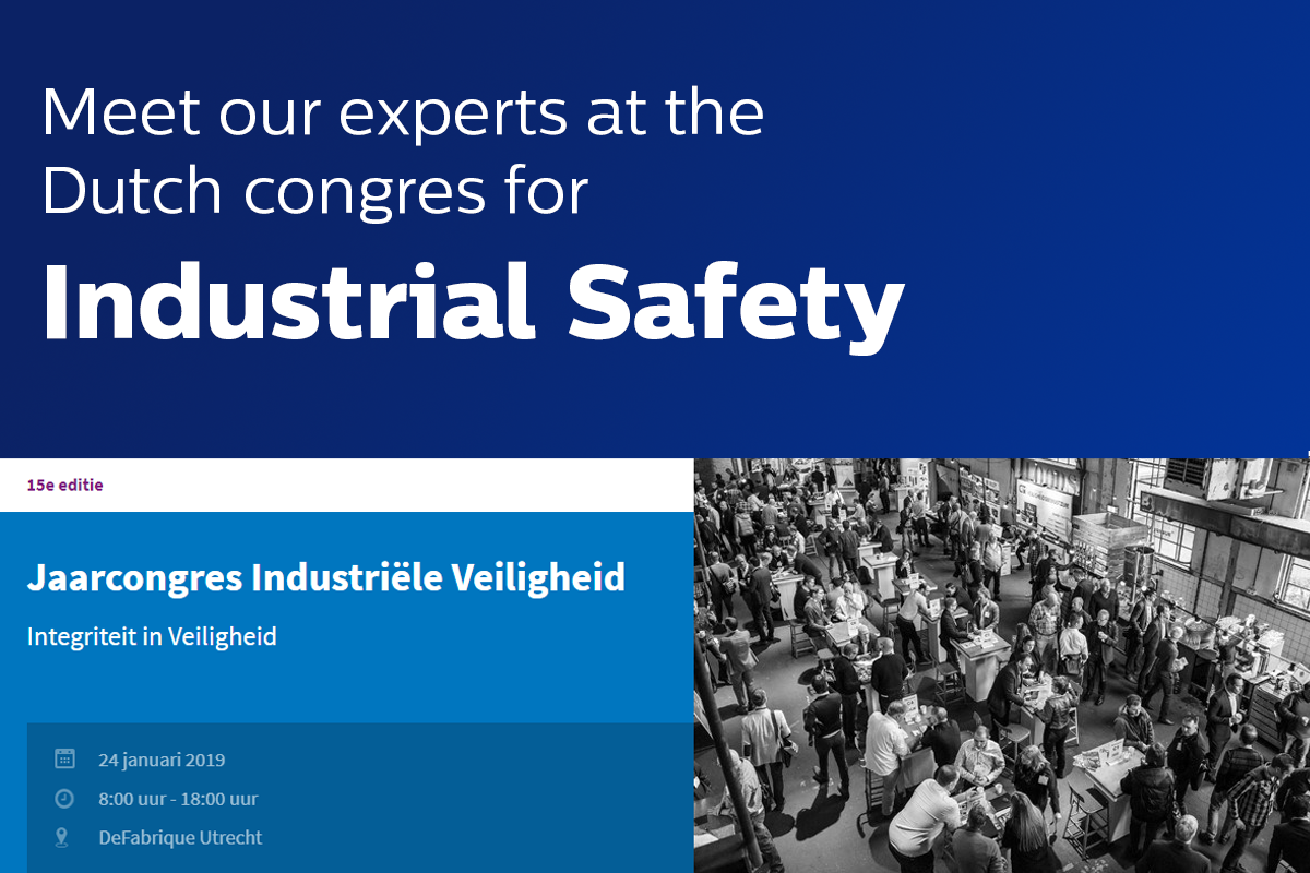 Meet our experts at the Dutch Congress for Industrial Safety