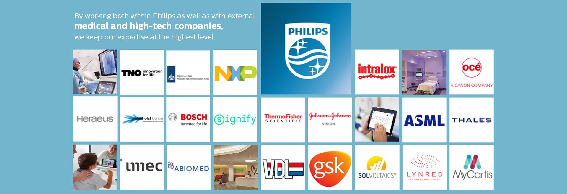 Philips Innovation Services - customer logo's