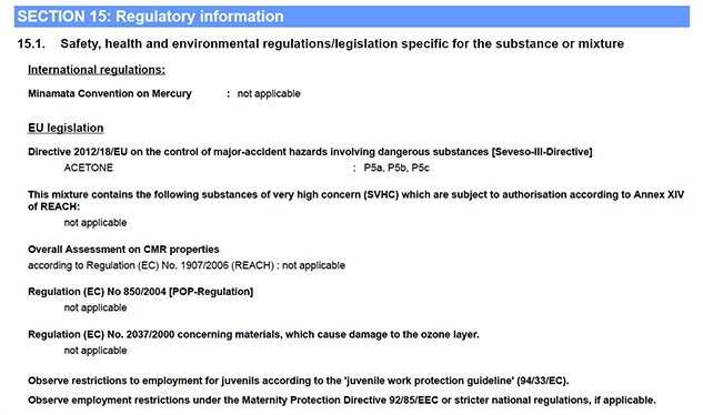 Fasim 2.2 Regulatory information