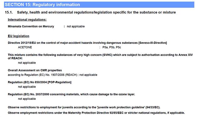 Fasim 2.2 Regulatory information
