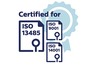 Certified for ISO 13485 - ISO 9001 - ISO 14001