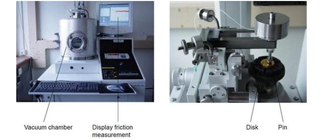 Tribology - vacuum tribometer