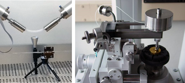 Figure 2: Test equipment for characterization of particle generation and wear